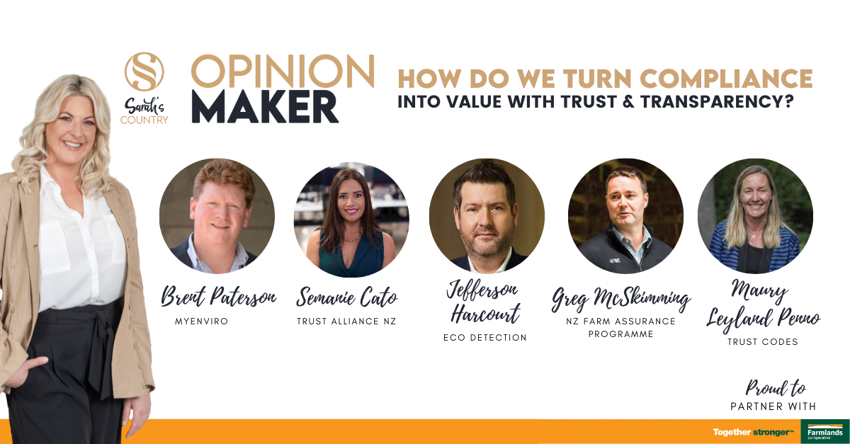 How do we turn compliance into value with trust & transparency?