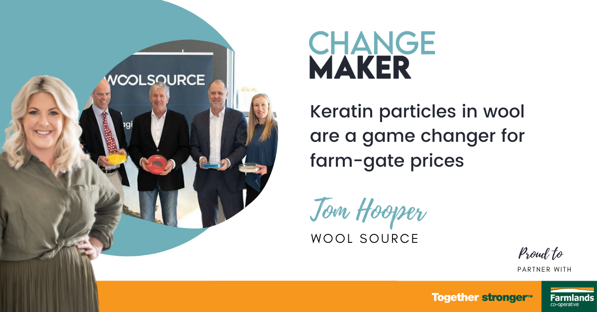 Keratin particles in wool are a game changer for farm-gate prices